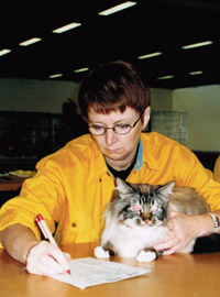 Britt-Maria är Int FIFe judge kat II.